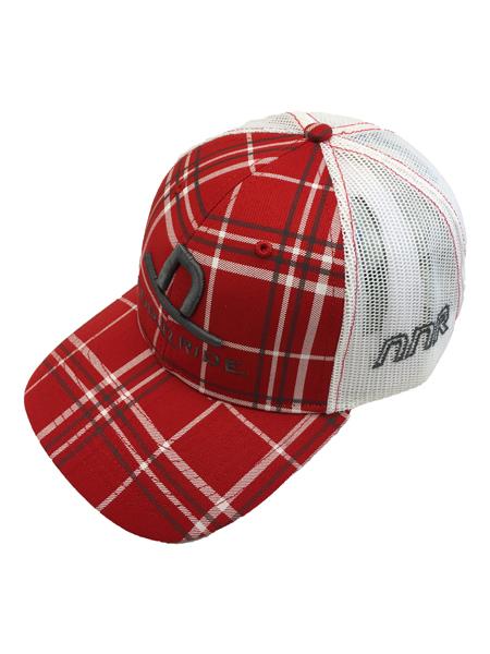 c159fea2 Red Plaid Grey logo trucker hat   Western Worlds New Brand- NOD 'N RIDE